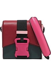 Christopher Kane Bonnie Color Block Leather Shoulder Bag Multicolor