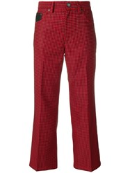 Marc Jacobs Checked Cropped Trousers Black