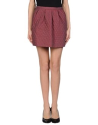 Paul And Joe Sister Mini Skirts Maroon