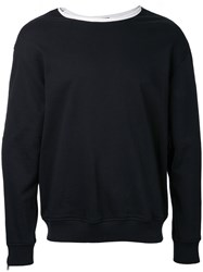 3.1 Phillip Lim Roll Edge Crewneck Sweatshirt Black