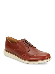 Cole Haan Leather Wingtip Dress Shoes Brown