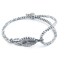 Anchor And Crew London Rope And Silver Bracelet White Noir