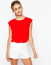 The Laden Showroom X Meekat Cloud Button Top Red