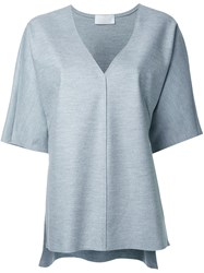 Rito V Neck Wide Fit T Shirt Grey