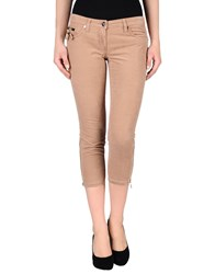 Elisabetta Franchi Gold Trousers 3 4 Length Trousers Women Pastel Pink