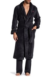 Tommy Bahama Plush Long Sleeve Robe Black