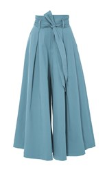 Temperley London Blueberry Tailored Ruffle Culottes