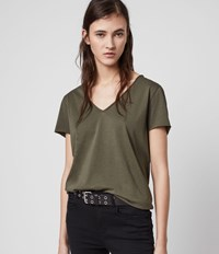 Allsaints Emelyn Tonic T Shirt Khaki Green