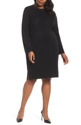 Ming Wang Plus Size Sweater Dress Black