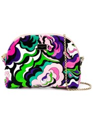 Emilio Pucci Abstract Print Crossbody Pink And Purple