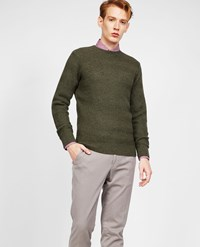 Aspesi Wool Yak Cashmere Sweater Dark Olive Green