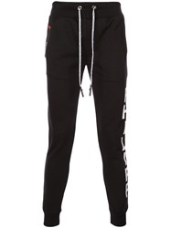 Philipp Plein Fitted Track Trousers Black