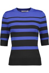 J Brand Orchid Striped Stretch Knit Sweater Black