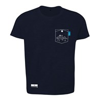 Anchor And Crew Oxford Blue Horizon Print Organic Cotton T Shirt