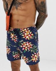 French Connection Floral Swim Shorts Multi