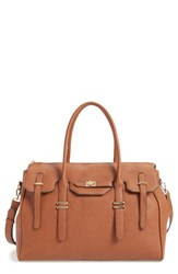 Sole Society Faux Leather Weekend Satchel Brown Camel