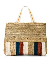 Seafolly Carried Away Stripe Tote Tan