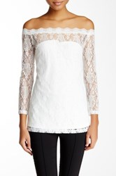 Blvd Off The Shoulder Lace Blouse White
