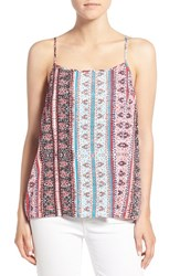 Women's 1.State Print Split Back High Low Tank