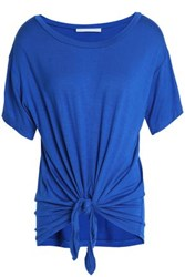 Kain Label Knotted Jersey T Shirt Bright Blue
