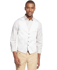 Inc International Concepts I.N.C. Men's Collins Slim Fit Vest Created For Macy's White