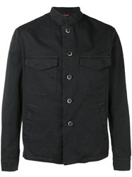 Barena Button Down Jacket Black