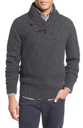 Men's Billy Reid Basket Weave Shawl Collar Cashmere And Wool Sweater