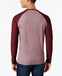 Vince Camuto Men's Mesh Raglan Sleeve T Shirt Port