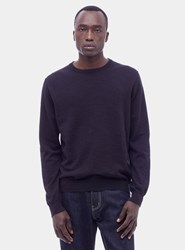 Ymc Black Bel Airs Linen Crew Neck Sweater