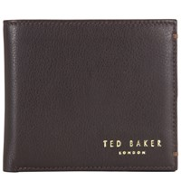 Ted Baker Anthonys Leather Bifold Wallet Chocolate