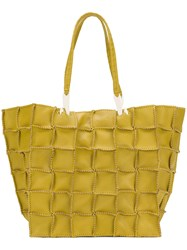 Jamin Puech Patchwork Shopper Tote Yellow And Orange