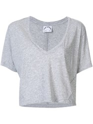 The Upside V Neck Crop Top Grey