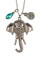 Leila Elephant Ohm Necklace Metallic