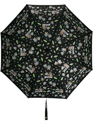 Moschino Space Themed Logo Print Umbrella 60