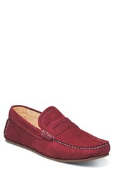 Florsheim Men's Denison Driving Loafer Red Suede