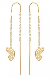 Olivia Burton Butterfly Wing Chain Thread Through Earrings Gold