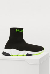 Balenciaga Speed Trainers Black Yellow Fluo