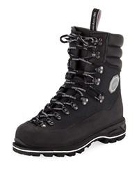 Stefano Ricci Leather Mountain Boots Black