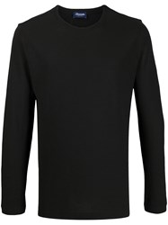 Drumohr Long Sleeve T Shirt Black