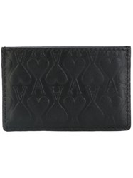 Ami Alexandre Mattiussi Embossed Cardholder Men Leather One Size Black
