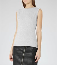 Reiss Jena Womens Metallic Tank Top In Grey