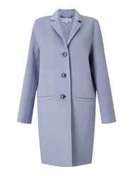 Jigsaw Double Face Oval Coat Blue