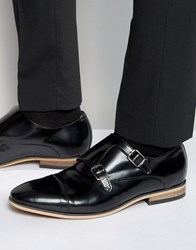 Dead Vintage Monk Shoes Black Leather Black
