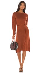 House Of Harlow 1960 X Revolve Tawney Sweater Dress In Rust.