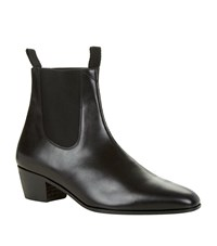 Sandro Harmonica Leather Chelsea Boot Male Black