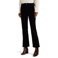 Current Elliott Vanessa Cotton Velvet Crop Flared Pants Navy