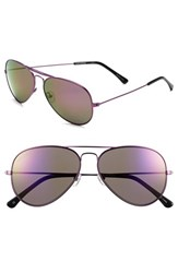 Women's Converse 58Mm Aviator Sunglasses Purple Mirror