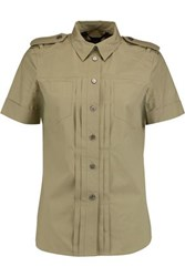 Marc By Marc Jacobs Cotton Blend Shirt Army Green