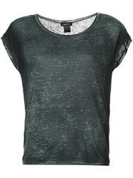 Avant Toi Short Sleeve Fitted Top Black