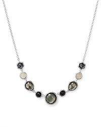 Ippolita Sterling Silver Rock Candy Necklace In Black Tie 16 Black White